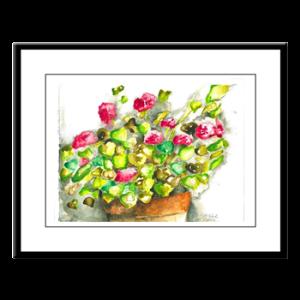 geraniums-framed