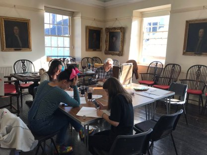 Drink and draw workshop