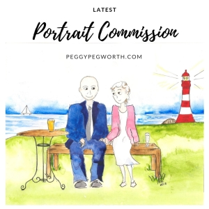 Wedding anniversary portrait commission